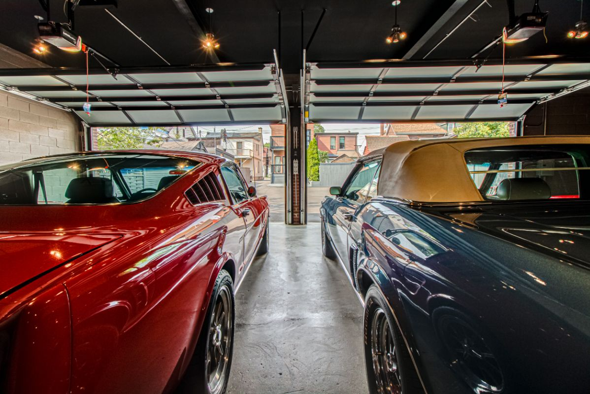 Art/design studio, gallery, collector car garage.