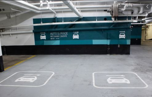 Underground Parking at Richmond Adelaide Centre (120 Adelaide Ctr)