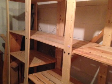 Space in the basement with shelving in Scarborough